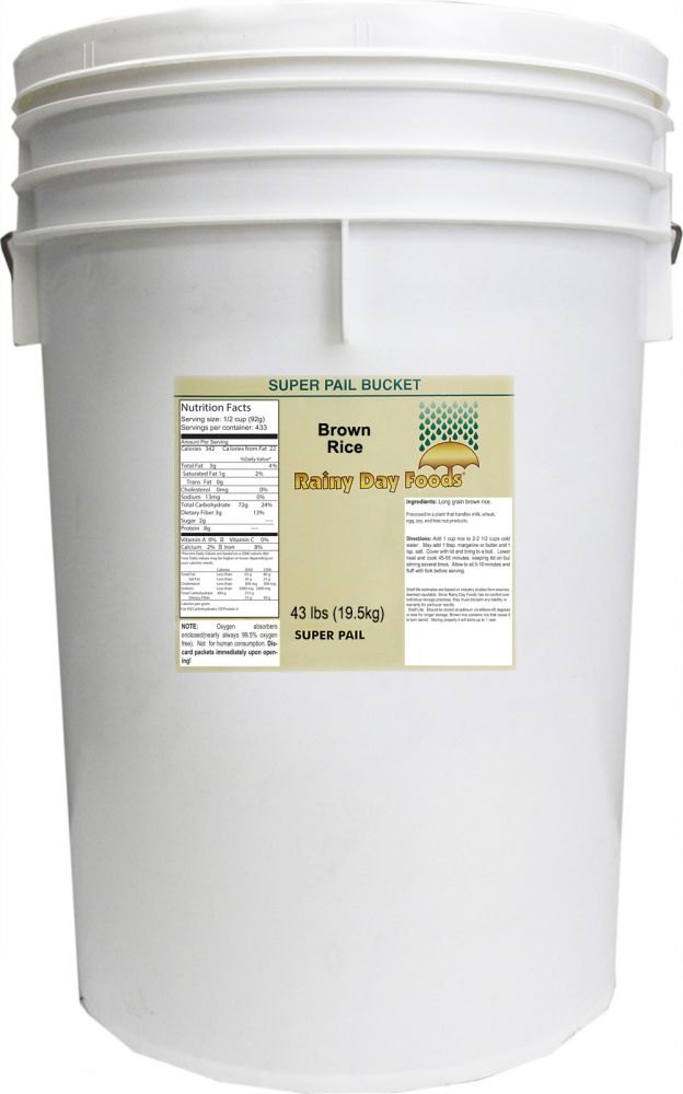Brown Rice - 5 Gallon Bucket